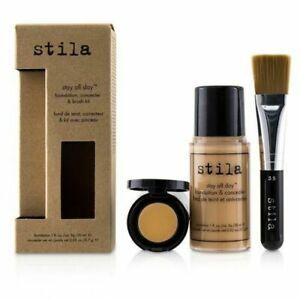 Stila Stay All Day Foundation, 1 oz, Concealer, 0.02oz & Brush Kit, Tone 6