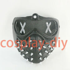 Watch Dogs 2 Aiden Pearce Mask Wrench Half Face Mouth-Muffle Halloween Props PVC