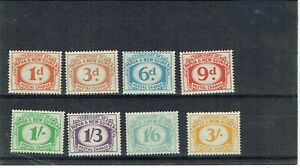 Papua New Guinea 1960 Postage Dues set of 8 mounted mint