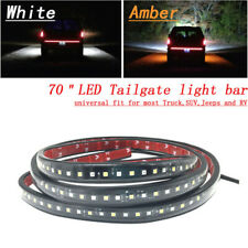 "2X 70"" Running Board Side Step LED Light Amber White Turn Signal DRL Strip Bar"