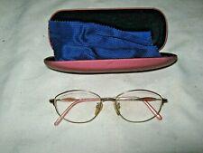 A Vintage Gilt Steel Frame Bally Titan p 52 16-1 Puce Temple Tip Reading Glasses
