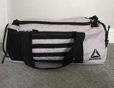 Reebok CrossFit Unisex Athletic Active Fitness Black & Gray Gym Duffle Bag