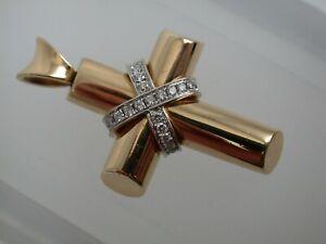 tolles Brillant Kreuz  Gold 750