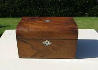 Victorian Ladies Wooden Vanity/Dressing/Sewing/Work Box - MOP/Abalone Cartouche