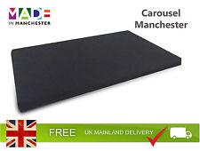 Large Orthopaedic Rectangular / Rectangle Memory Foam Dog Bed | Black Cotton