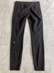 """Lululemon Speed Up Tight 28"""" Leggings Black Full On Luxtreme Pockets Size 10 EUC"""