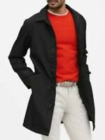 NWT Banana Republic L Black Water-Resistant 3-Layer Mac Jacket
