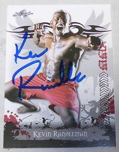 Kevin Randleman Signed 2010 Leaf MMA Card #7 UFC Pride FC Autograph 19 20 23 26