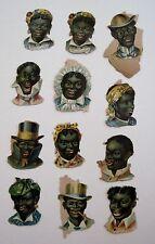 Vintage Black Americana Die Cuts of Black Men & Women's Faces w/ Different Hats*