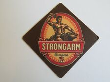 Beer Mat Coaster: Camerons  Strongarm ~ Lion Brewery Hartlepool ~ 1865 England