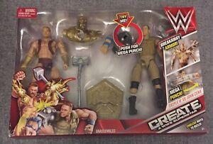 Create A WWE Superstar - Triple H VS John Cena Action Figure 2-Pack - NEW - 2015