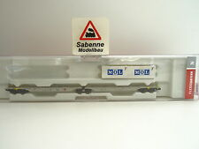 Fleischmann N 825333 Doppeltragwagen Sggmrs AAE MOL  Ep.V-VI OVP C548