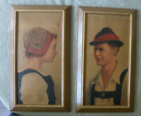 Austrian Man and Woman Paintings