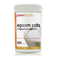 Power Health Epsom Salts Magnesium Sulphate (500g) Suitable as a FoodSupplement