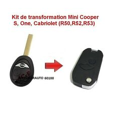 COQUE  CLE PLIP TELECOMMANDE TRANSFORMER KIT MINI COOPER S ONE D CLUBMAN CABRIO