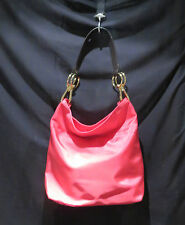 JPK PARIS 75 Hot Pink Fushia Hobo Bucket Bag with leather accents MSRP 165 US