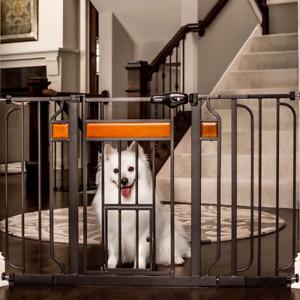 "2.5"" ft Portable Safety Gate Mesh Pet Dog Cat Fence Indoor Pet Gate"