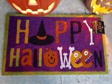 """Happy Halloween Door Mat Coco Coir 18"""" x 30"""" NEW"""