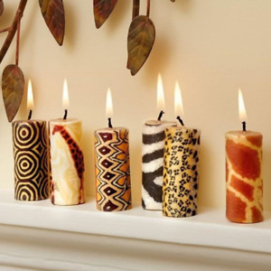 Ethnic mini candles - Fairtrade and ethical candle set - African Swazi Candles