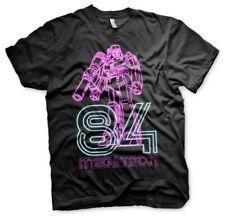 Megatron Neon 84 Official Transformers Decepticons Retro TV Black Mens T-shirt