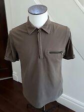 GENUINE PRADA  Mens Polo T  Shirt Size large/ BROWN/KHAKI  Cotton