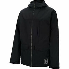 NEW NEFF MENS L Daily 2 SKI JACKET SNOWBOARD COAT TOP SHIRT HOODY BLACK $150 RV