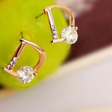 Boucles d'oreilles femmes alphabet D unique mode joker crystal bon cadeau chaud