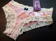 """Women Panties,Bikinis""""Ilusion"""" Size L. Baby Pink,Solid Satin Soft,Silky,Mexico"""