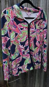 Lilly Pulitzer Zip Front Sweater Sweatshirt Athletic Jacket.  Size Med
