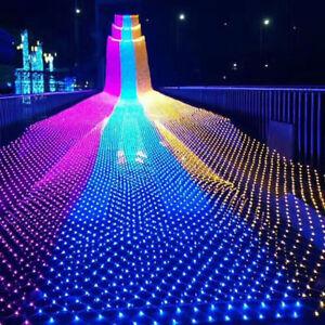 Christmas Xmas Party Outdoor Garden LED Net Lights String Fairy Mesh Decor Lamps
