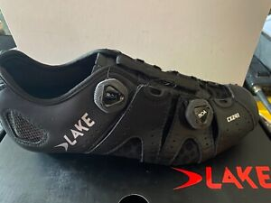 LAKE CX241 WIDE 43 Black/silver ROAD CYCLING SHOES USED ONCE