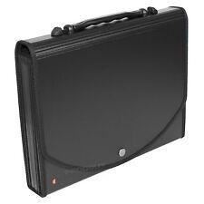 Black A4 Expanding File Conference Folder 13 Part Paper Storage Organiser Case