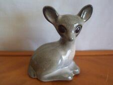 "Vintage Howard Pierce Porcelain Reclining Fawn - 5-1/4"" Tall - great!"