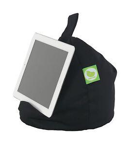 Black iPad, Book,Tablet & eReader Cushion Bean Bag Pillow Stand By Bean Lazy