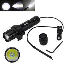 5000Lm T6 LED Tactical Hunting Flashlight Torch Mount Light Rifle Gun Rail