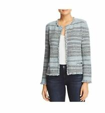 Nic+Zoe Seafoam Blue Tweed Twinge Cardigan Sweater L