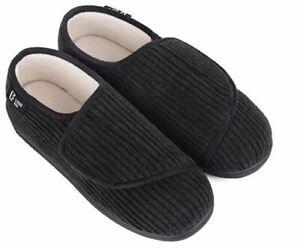 Women's Furry Memory Foam Diabetic Slippers Comfy Cozy Arthritis Edema Shoes