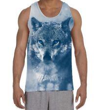 Wolf en la nieve para hombre todo chaleco sin mangas-Animales lobos salvajes Lindo Perros