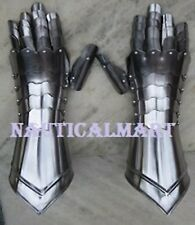 Medieval Knight Steel Armor Gauntlet / re-enactment / larp / role-play / theatre