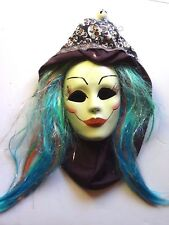 Handmade Skull Lady by Dena Mask Wig Halloween Festival Display Movie Props