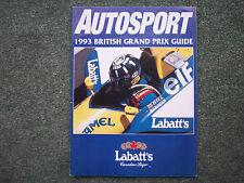 AUTOSPORT 1993 BRITISH GRAND PRIX GUIDE