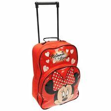 Trolley Zaino Scuola Cartella Disney Minnie Topolina Rosso Pois Bambina 40x28x16
