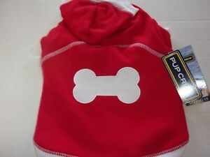 RED Bone Dog Hoodie XXS XS S L XL 2XL 3XL New Pup Crew Puppy sweat shirt pet