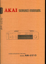Rare Original Factory Akai AM U310 Stereo Amplifier Amp Service Manual