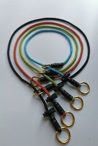 STRONG SLIP DOG CHOKER COLLAR HAND MADE, BRASS RINGS,CLIMBING CORD,STOPPER