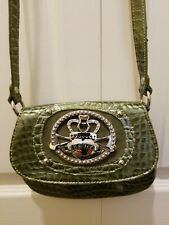 KATHY VAN ZEELAND GREEN CROSSBODY BAG WITH WALLET SET.