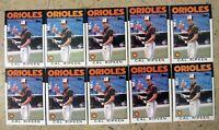 Cal Ripken 1986 Topps #340 Baltimore Orioles 10ct Card Lot