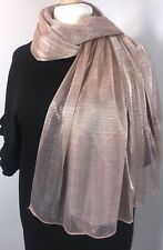NEW Rose Gold Metallic Scarf Pashmina Wrap Shimmering Sparkly Wedding Soft Long