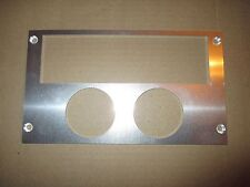 Ford Mustang 87-93 radio double gauge panel for 2 1/16 inch gauges ALUMINUM