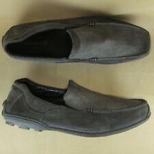 Merrell Granite US 14 EU 49 Men Driving Loafer Moc Toe Apron Gray Suede